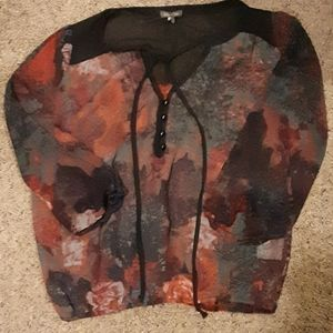 NWOT Lily Rose Floral Blouse
